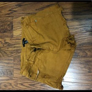F21 Brown denim shorts